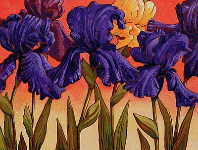 Painting - Big Iris I by John Newcomb