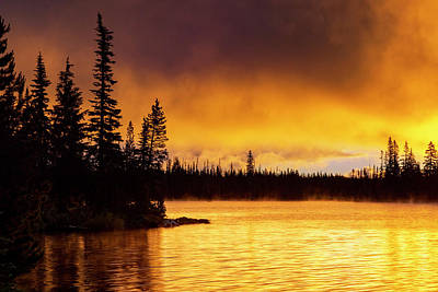 Photograph - Big Lake Sunrise by Cat Connor