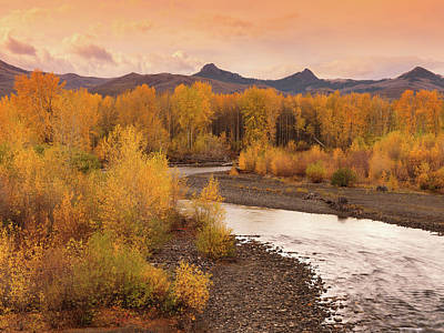 Photograph - Big Lost River Autumn Sunset by Leland D Howard