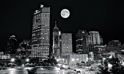 Valentines Day - Big Moon Indianapolis 2019 by Frozen in Time Fine Art Photography
