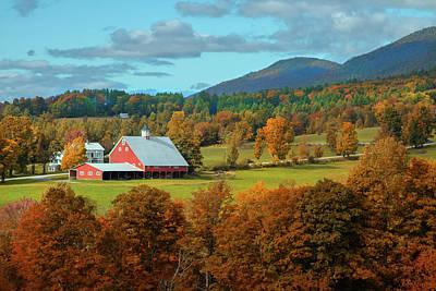 Photograph - Big Red Barn by John Rivera