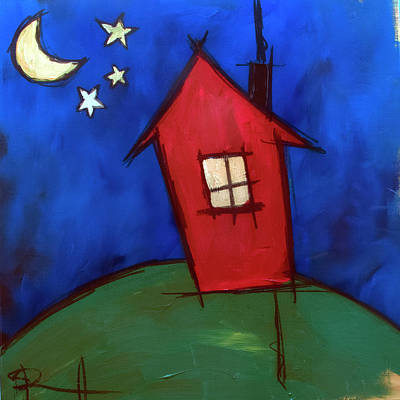 Painting - Big Red House by Sean Parnell