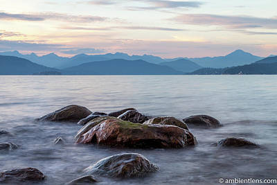 Photograph - Big Rocks at Acadia Beach, Vancouver, BC 2 by Art Calapatia