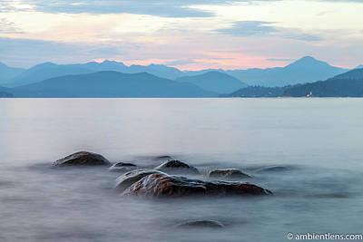 Photograph - Big Rocks at Acadia Beach, Vancouver, BC 3 by Art Calapatia