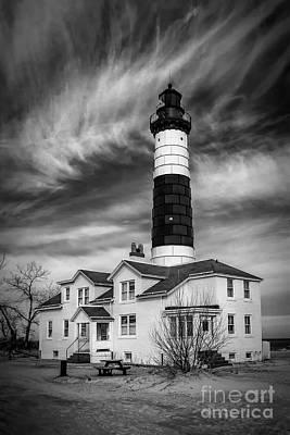 Photograph - Big Sable - Monochrome by Nick Zelinsky