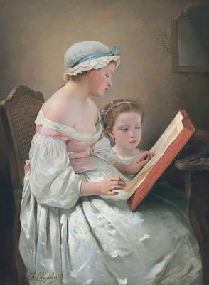 Painting - Big Sister by Charles Joshua Chaplin
