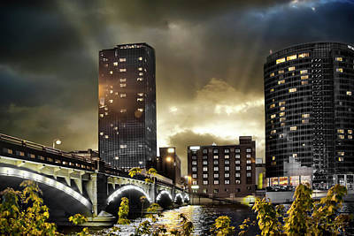 Photograph - Big Sky Grand Rapids Night by Evie Carrier
