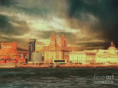 Photograph - Big Sky Over The Mersey by Leigh Kemp
