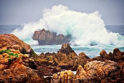 Photograph - Big Splash, Asilomar State Beach, Pacific Grove, California by Flying Z Photography by Zayne Diamond