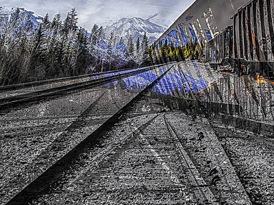 Digital Art - Big Steel Rail by Jerald Blackstock