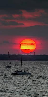 Photograph - Big Sun Over Fannie Bay, Nt by Nolan Caldwell