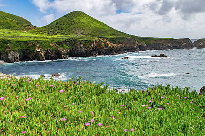 Photograph - Big Sur Coast, Where The Mountains Meet The Sea by Gloria Moeller