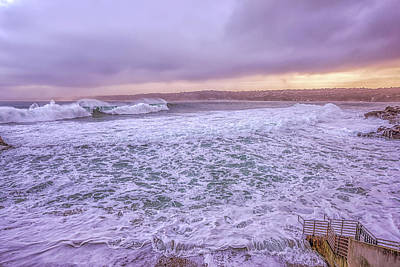 Photograph - Big Surf At The Cove by Joseph S Giacalone