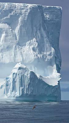 Photograph - Big Tabular Iceberg Dramatically by Eastcott Momatiuk