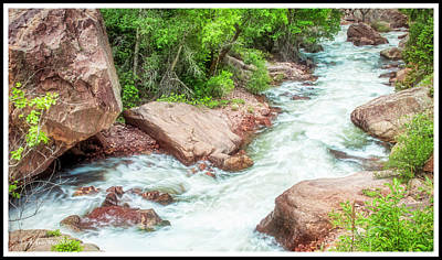 Photograph - Big Thompson River, Colorado Rockies by A Gurmankin