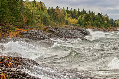 Photograph - Big Waves In Autumn by Susan Rydberg