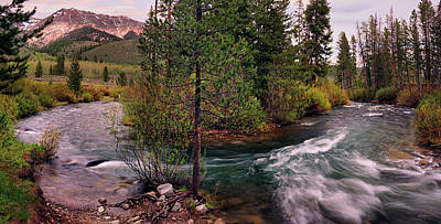 Big Wood River Curve 2 Art Print by Leland D Howard