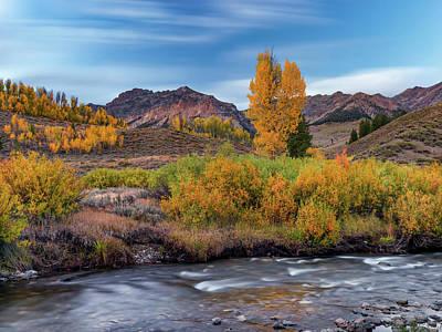 Photograph - Big Wood River Fall by Leland D Howard