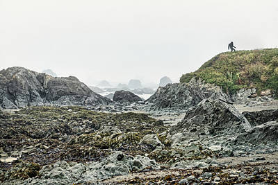 Photograph - Bigfoot Photobombs Seascape by Stuart Litoff