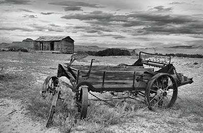 Bighorn Basin History Art Print by Leland D Howard