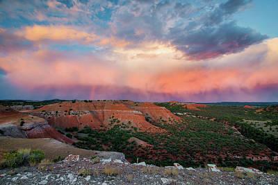 Photograph - Bighorn Basin Sunset by Leland D Howard