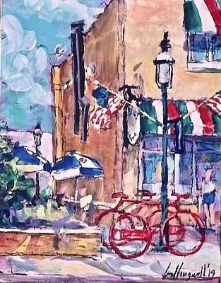 Painting - Bike, Bike Rack by Les Leffingwell