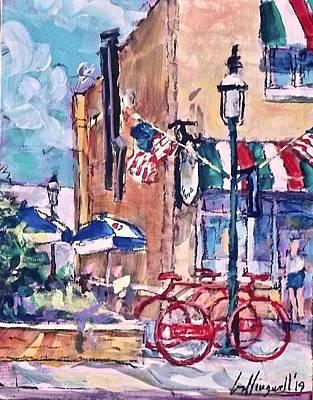 Painting - Bike, Bike Rack by Les Leffingwell