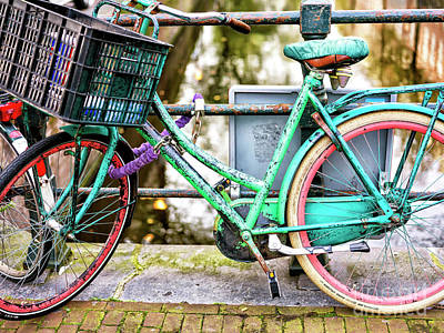 Photograph - Bike Colors Amsterdam by John Rizzuto