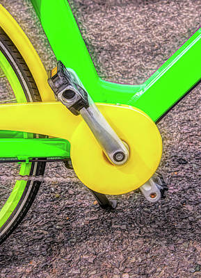 Photograph - Bike Lines Up Close by Gary Slawsky