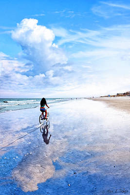 Photograph - Bike Ride On The Beach At Tybee Island by Mark E Tisdale