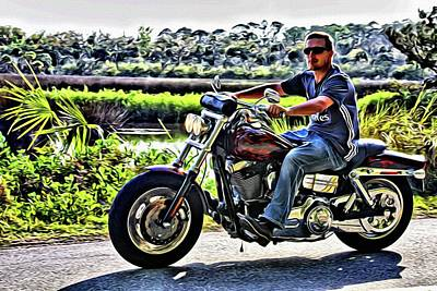 Photograph - Biker On The Loop by Alice Gipson