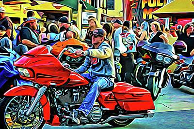 Photograph - Biker Rouge by Alice Gipson