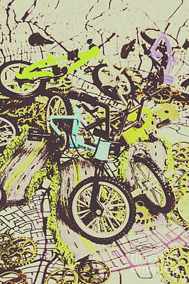 Photograph - Bikes And City Routes by Jorgo Photography - Wall Art Gallery