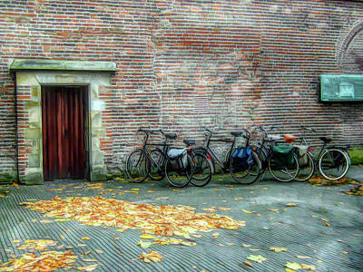 Photograph - Bikes In Amsterdam by Alison Frank