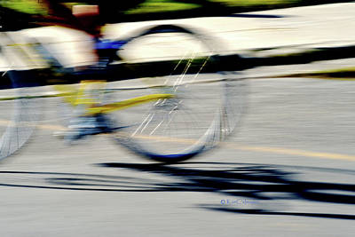 Photograph - Biking Motion And Morning Shadow by Kae Cheatham