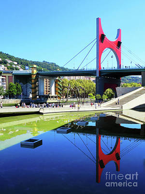 Photograph - Bilbao Reflections by Rick Locke