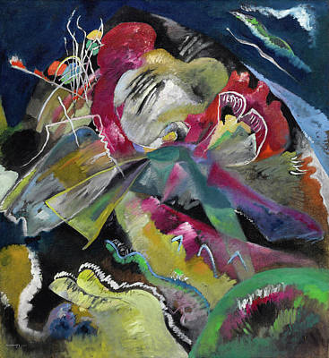 Kandinsky Wall Art - Painting - Bild Mit Weissen Linien - Painting With White Lines by Wassily Kandinsky
