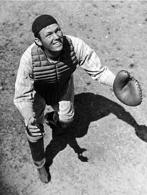 Photograph - Bill Dickey Waits On A Foul Ball by Fpg