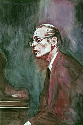 Painting - Bill Evans - Blue In Green by David Lloyd Glover