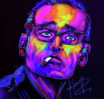 Painting - Bill Evans by DC Langer