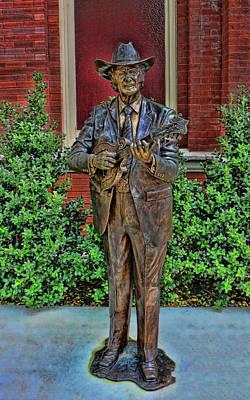 Photograph - Bill Monroe Statue - Nashville by Allen Beatty