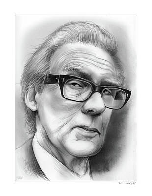 Drawing - Bill Nighy by Greg Joens