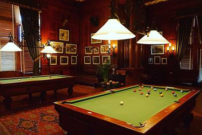 Photograph - Billiard Room 2 by Rodney Lee Williams