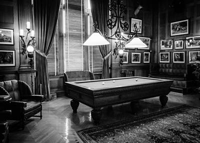 Photograph - Billiard Room by Rodney Lee Williams