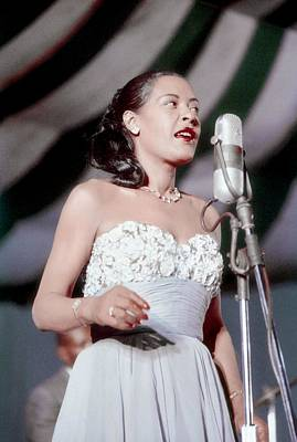 Photograph - Billie Holiday At Newport Jazz by Bill Spilka