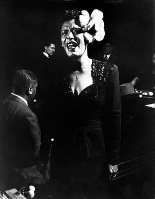 Photograph - Billie Holiday by Gjon Mili