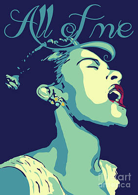 Musicians Royalty Free Images - Billie Holiday Royalty-Free Image by Greatom London