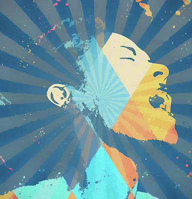 Painting - Billie Holiday Retro by Dan Sproul