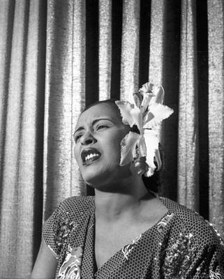 Photograph - Billie Holiday Sings by Hulton Archive