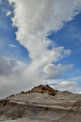 Photograph - Billowing Cloud Over San Rafael Desert Dunes by Ray Mathis